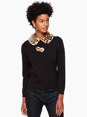 Kate Spade Leopard-print collar sweater