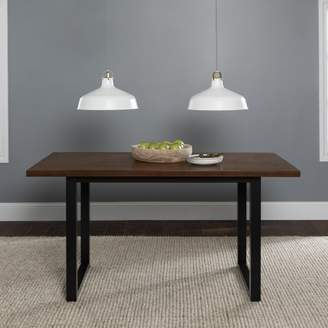"Walker Edison 60"" Urban Wood Kitchen Dining Table - Antique Brown"