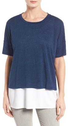 Women's Eileen Fisher Organic Linen Jersey Tee $118 thestylecure.com