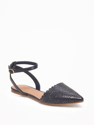 Laser-Cut D'Orsay Flats for Women $26.94 thestylecure.com
