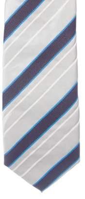 Prada Striped Silk Tie silver Striped Silk Tie