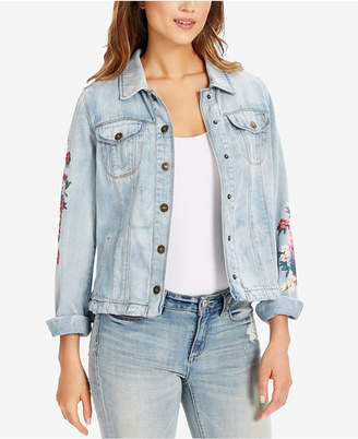 Vintage America Soleil Cotton Printed Denim Jacket
