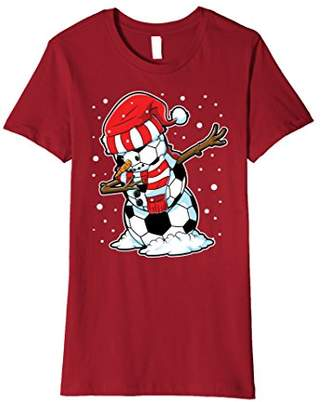 Dabbing Snowman Soccer T shirt Christmas Funny Dab Ball Gift