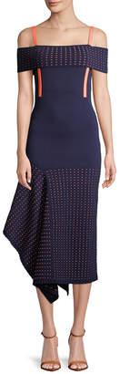 Jason Wu Asymmetric Cold-Shoulder Dress