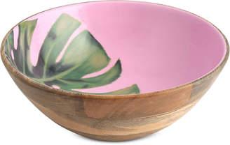 Thirstystone Closeout! Wood & Enamel Palm Leaf Bowl