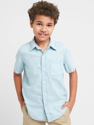 Gap Chambray Short Sleeve Shirt