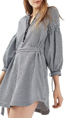 Women's Topshop Gingham Smock Dress $75 thestylecure.com