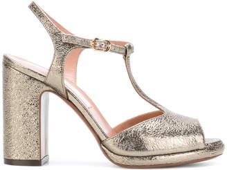L'Autre Chose metallic open-toe sandals