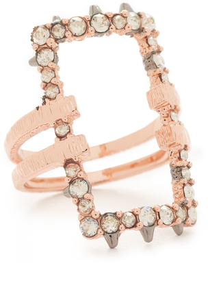 Alexis Bittar Crystal Encrusted Link Ring $125 thestylecure.com
