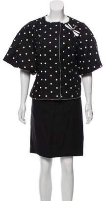 Andrew Gn Woven Polka Dot Skirt Set