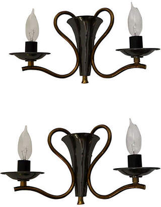 One Kings Lane Vintage French Urn-Style Sconces - Set of 2