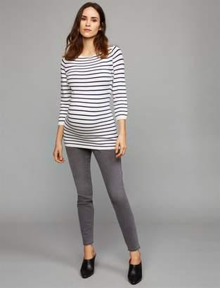 Luxe Essentials Denim Luxe Essentials Secret Fit Belly Addison Maternity Jeans - Grey