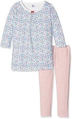 Petit Bateau Girl's Lai/Mu Pyjama Sets,(Manufacturer Size:6A 6Ans) Pack of 2