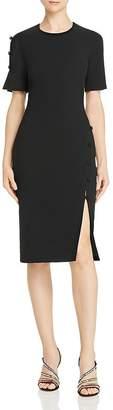 Black Halo Joanna Button-Detail Dress - 100% Exclusive