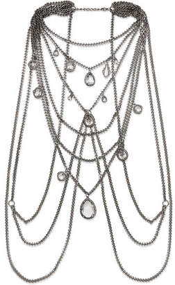 Alexander McQueen Silver-tone Crystal Body Chain - one size