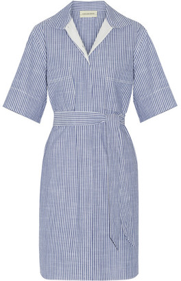 By Malene Birger - Olali Striped Cotton Shirt Dress - Blue $395 thestylecure.com