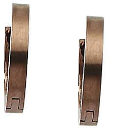 "Steel by Design Stainless Steel Chocolate-Plated 1/2"" Hoop Earr"