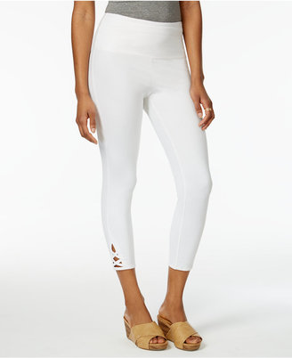 Style & Co Lattice-Hem Tummy Comfort Capri Leggings, Only at Macy's $21.98 thestylecure.com