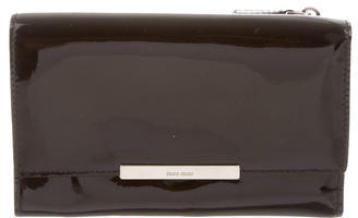 Miu Miu Miu Miu Patent Leather Compact Wallet