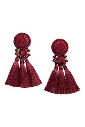 H&M Earrings with Tassels - Dark blue - Women