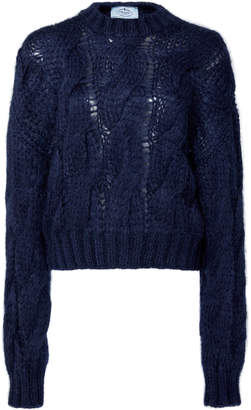 Prada Cable-Knit Mohair Sweater