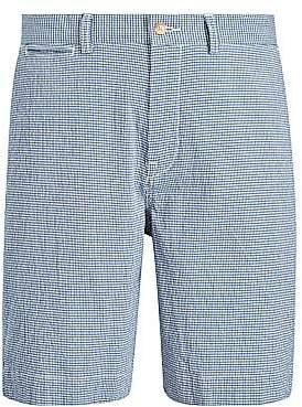 Polo Ralph Lauren Men's Seersucker Check Flat Shorts