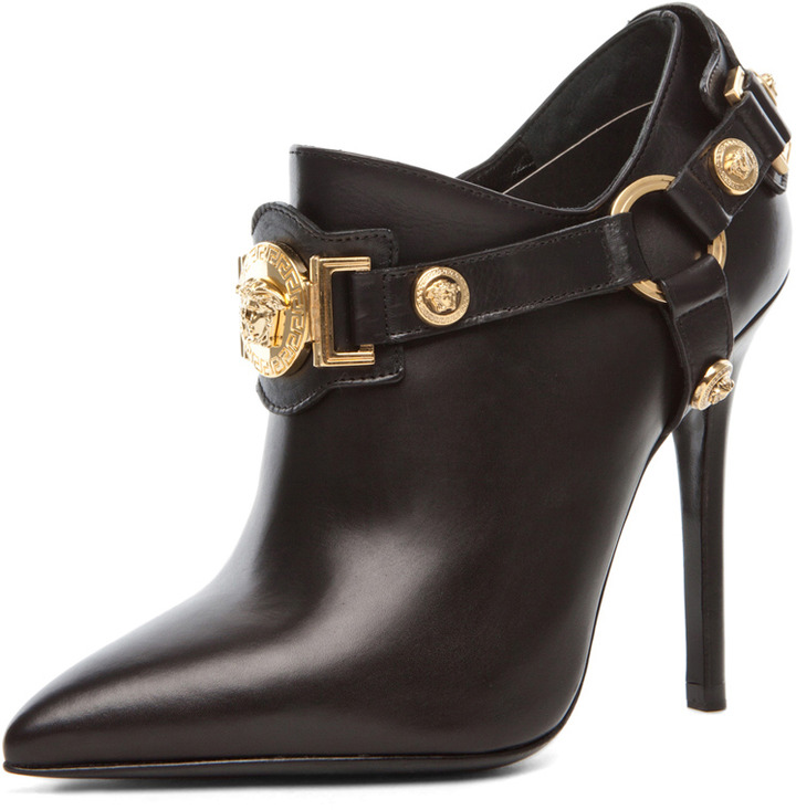 Versace Harness Bootie in Black