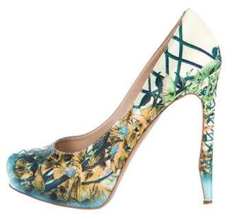 Nicholas Kirkwood Satin Printed Pumps