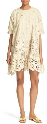 Women's Sea Exploded Eyelet Swing Dress $435 thestylecure.com