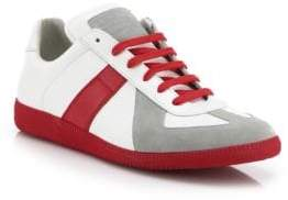 Maison Margiela Replica Low-Top Two-Toned Leather Sneakers