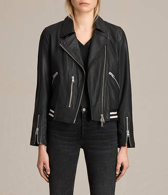AllSaints Balfern Leather Bomber Jacket