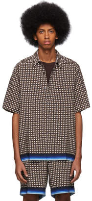 Dries Van Noten Brown Geometric Classen Shirt