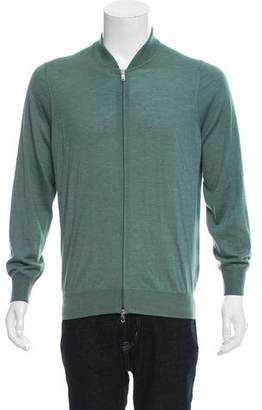 Brunello Cucinelli Cashmere Woven Zip-Up Sweater