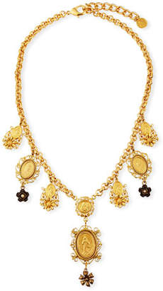 Dolce & Gabbana Medallion & Flower Necklace