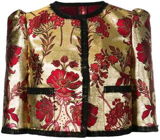 Dolce & Gabbana floral jacquard cropped jacket