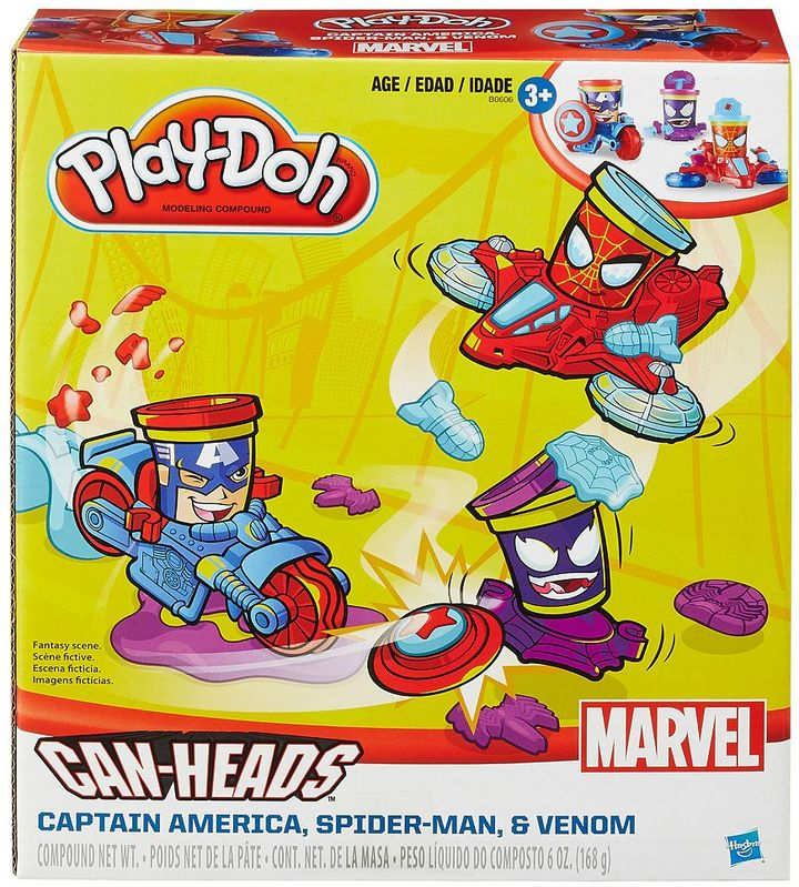 Play-doh Marvel Can-Heads Captain America, Spider-Man & Venom Set by Play-Doh