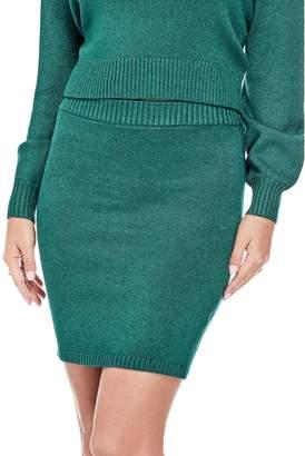 GUESS Women's Elisa Sheen Mini Skirt