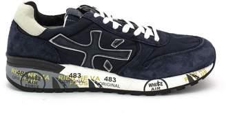 Premiata Mick Sneaker In Blue Suede Upper And Nylon.