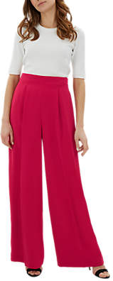 Jaeger Wide Leg Trousers, Pink