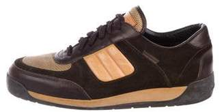 Louis Vuitton Suede-Trimmed Sneakers