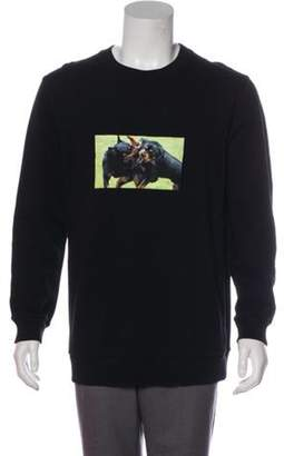 Givenchy 2017 Rottweilers Graphic Sweatshirt black 2017 Rottweilers Graphic Sweatshirt
