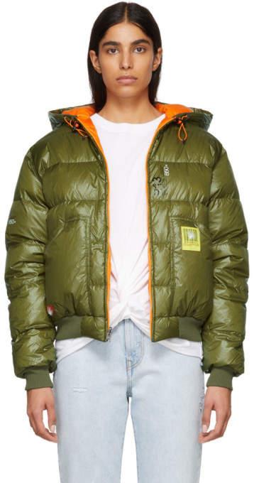 Green Down Hoodie Jacket