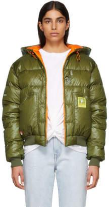 R 13 Green Down Hoodie Jacket