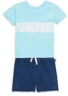 Splendid Baby's Two Piece Tie Dye Tee& Denim Shorts Set