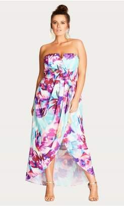 City Chic Citychic Bright Bouquet Maxi Dress