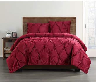 Truly Soft Everyday Pleated Velvet King Comforter Set Bedding