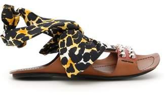 Prada Calfskin Sandals