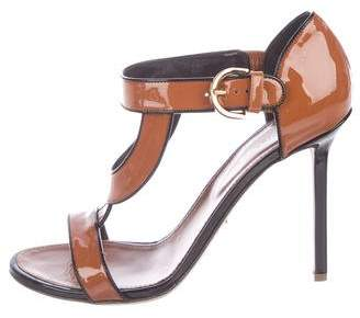 Sergio Rossi Patent Leather Cutout Sandals