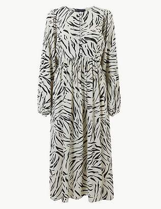 Marks and Spencer Animal Print Relaxed Midi Dress