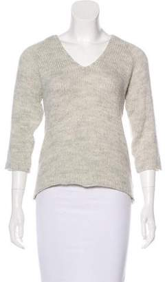 Les Prairies de Paris Knit V-Neck Sweater